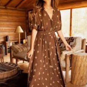 Christy Dawn Lottie Style Dress Carob Bloom NWT